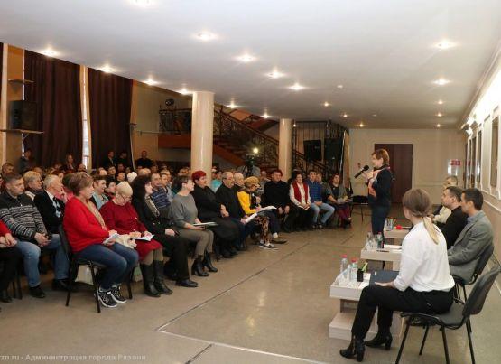 На встречу с руководителями администрации пришли жители Московского района