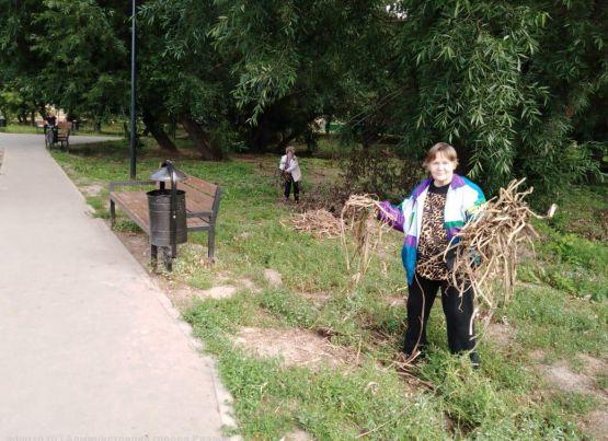 Рязанские активисты провели уборку на своих территориях