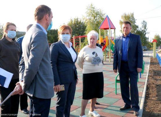 В поселке Канищево появилась новая детская площадка